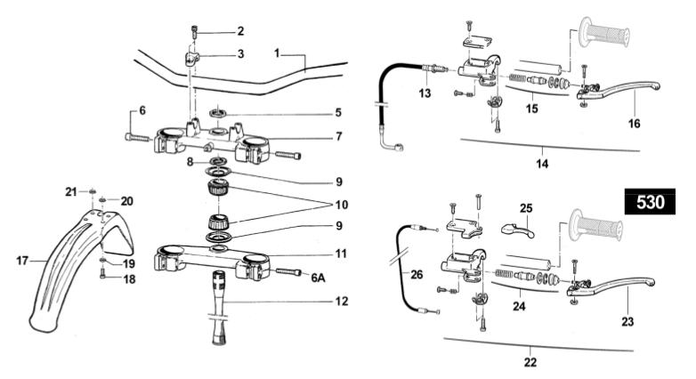 Steering + Clutch Lever