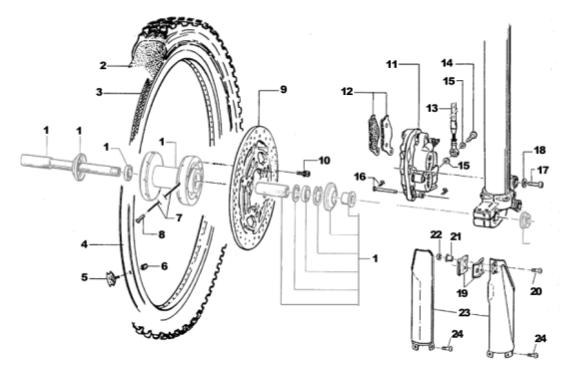 Front Wheel + Brake