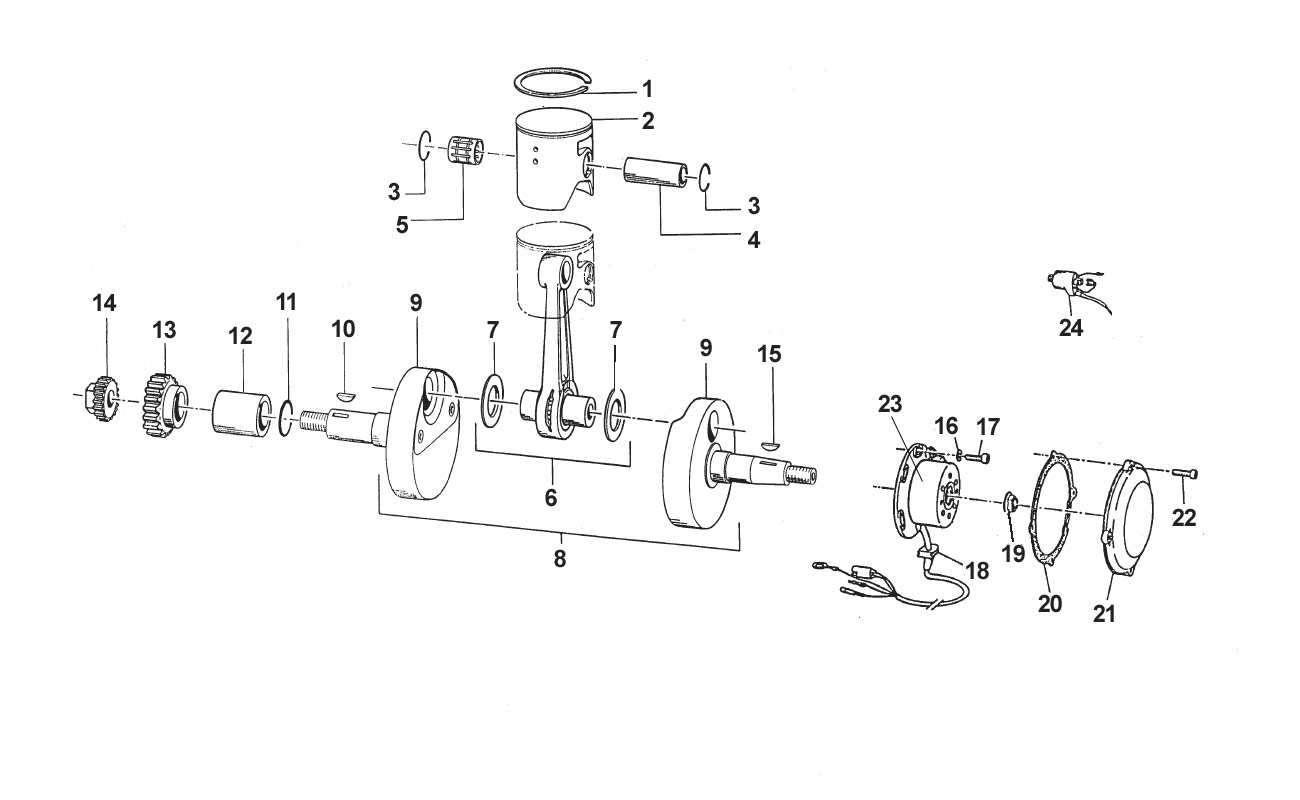 Crankshaft + Piston + Ignition 250cc