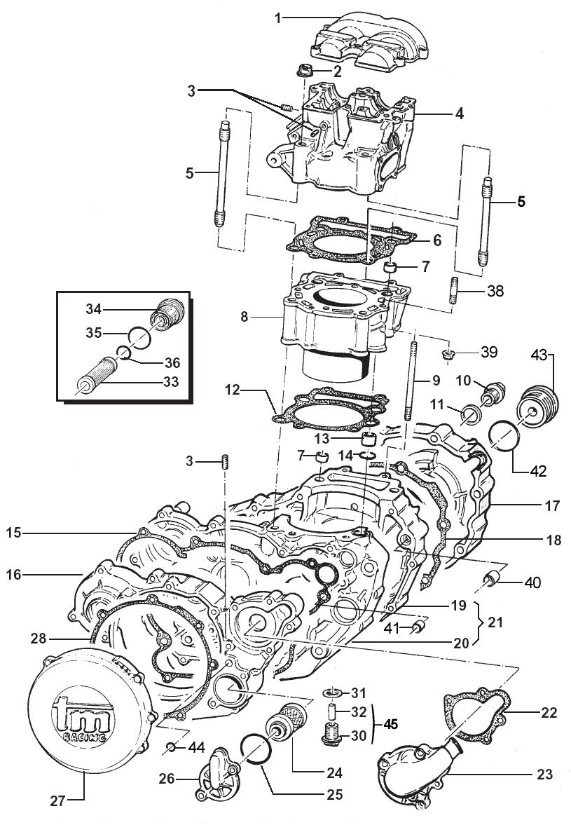 Crankcase + Cylinder + Head