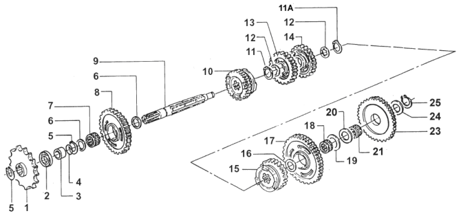 Countershaft END