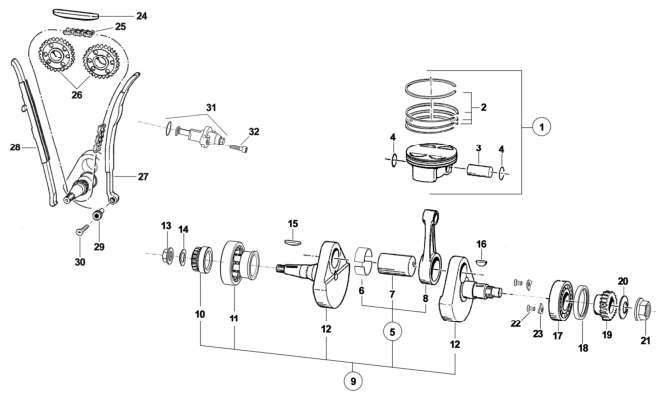 Crankshaft + Piston