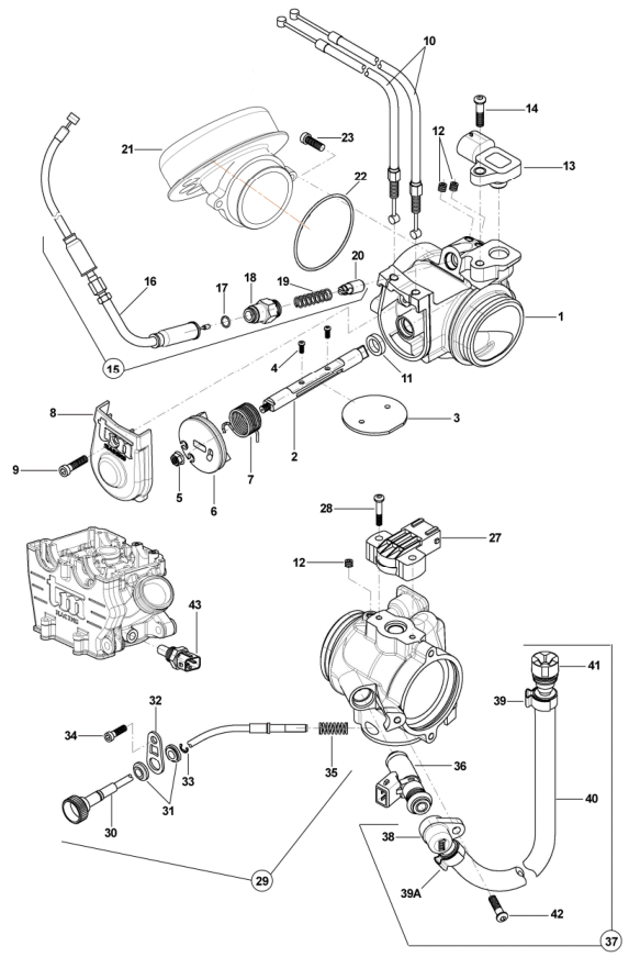 Throttle Body + Sensors