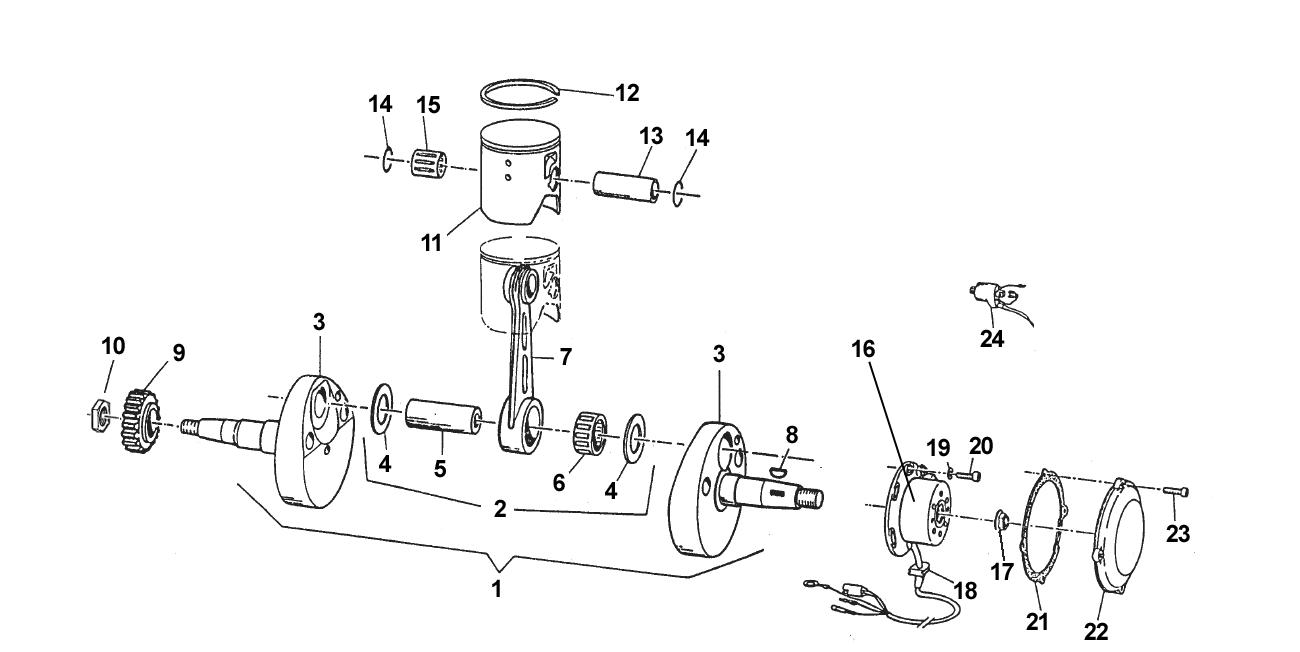 Crankshaft + Piston + Ignition