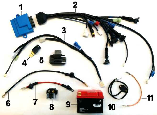 Wiring 250-450 SMX Electric Starter
