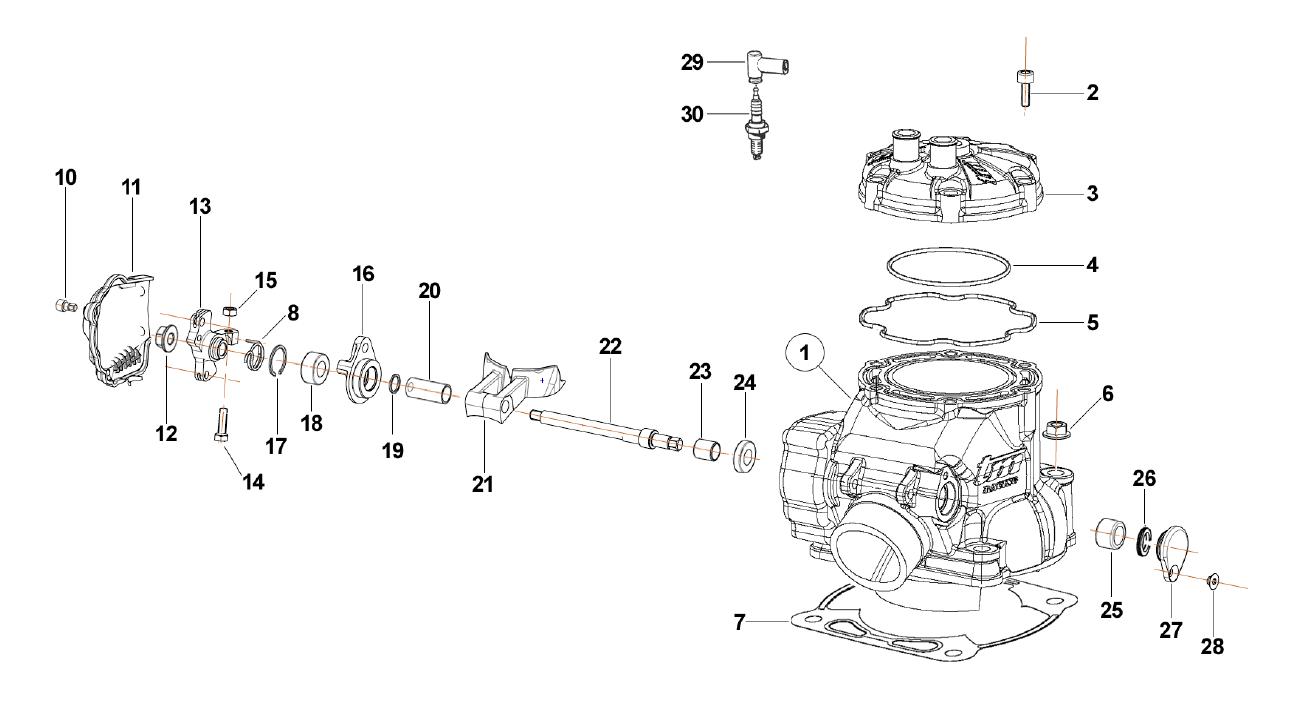 Cylinder 250cc MX EN