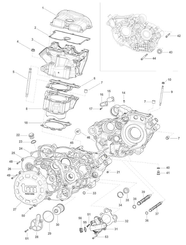 Crankcase Cylinder Head