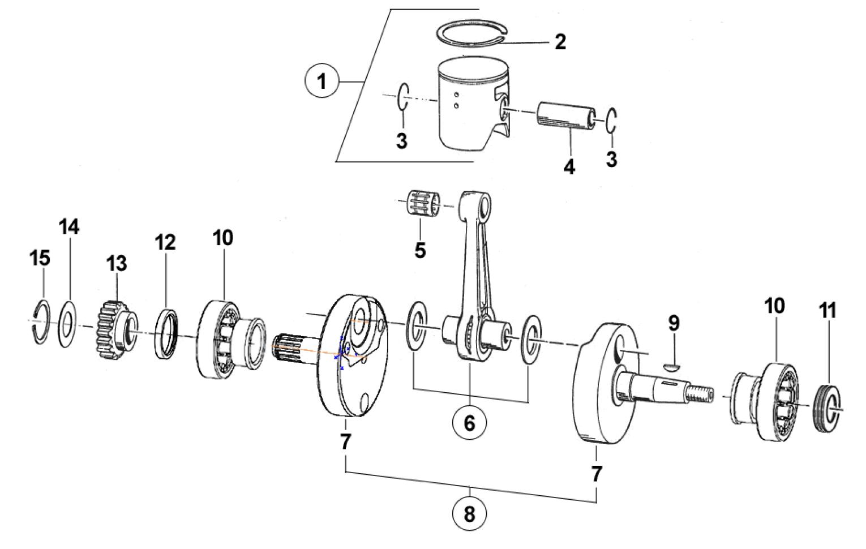 Crankshaft + Piston 300cc